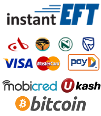 Methods of Payments Credit Cards, Debit Cards Instant EFT, Payfast